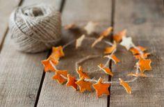 Guirlande étoiles peau de clémentine