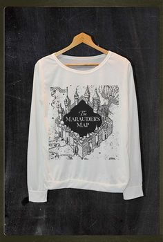 The Marauder's Map Harry Potter Shirt Long Sleeve by FourthSeason, $16.99