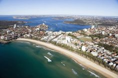 Ocean beach, Manly and Sydney Harbour beyond.