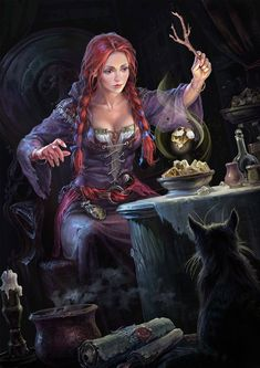 Fantasy Girl Art and Visit the link to watch Full Fantasy Girl, Fantasy Witch, Chica Fantasy, Witch Art, Fantasy Women, Character Portraits, Character Art, Fantasy Characters, Female Characters