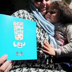 Yislamoo Mother's Day Card in Arabic يديمك فوق راسي يا ماما بطاقة عيد الأم بالعربي White Envelopes, Greeting Cards