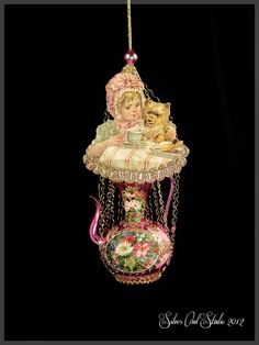 Victorian Christmas Ornament  Tea Party by SilverOwlStudio on Etsy, $170.00