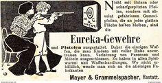 Werbung - Original-Werbung/ Anzeige 1901 - EUREKA GEWEHRE / MAYER & GRAMMELSPACHER - RASTATT - ca. 90 x 45 mm