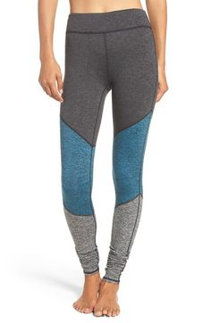 Free People 'Intuition' High Waist Colorblock Leggings available at #Nordstrom