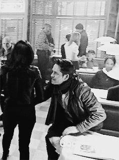 "Haha I totally did not notice this in the episode- Regina is like dragging Robin out the door, like ""Dude we have two seconds alone without our kids, let's get down to business!"" I like to think they were making out in an alleyway or something somewhere when the darkness descended and they were both like ""Ugh, seriously? Come ON! Can our sexiness ever not get interrupted? Let's lock ourselves in the vault again."""