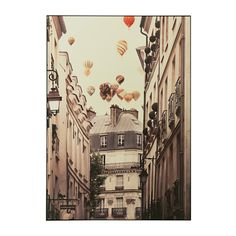 IKEA VILSHULT Picture Flying over paris 100x140 cm Motif created by Irene Suchocki.
