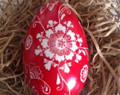 Large Goose Egg ( red and white) - Edit Listing - Etsy