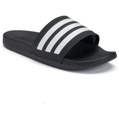 Adidas adilette Ultra Slides Women's Sandals (725 CZK) ❤ liked on Polyvore featuring shoes, sandals, black, adidas, fleece-lined shoes, black shoes, black slip-on shoes and black open toe shoes