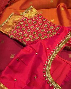 Best 9 Latest Checks Pattern Work Blouse Designs for 2019 – SkillOfKing. Wedding Saree Blouse Designs, Best Blouse Designs, Pattu Saree Blouse Designs, Simple Blouse Designs, Stylish Blouse Design, Blouse Neck Designs, Blouse Patterns, Wedding Blouses, Sleeve Designs