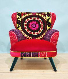 Suzani armchair sunrise por namedesignstudio en Etsy