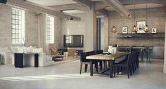 industrieel wonen woonkamer - Inspirerend Wonen