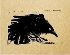 Black Sooty Raven Print of original drawing by OSullivan
