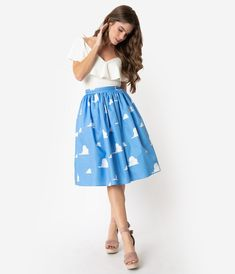 Disneybounding Ideas - The Happiest Collection on Earth – Unique Vintage Unique Vintage, Vintage Looks, Toy Story Clouds, Vintage Brand Clothing, Disney Dress Up, 1950s Outfits, Disney Bound Outfits, Modest Skirts, Dapper Day