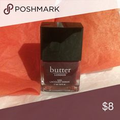 Butter London Brand new never used full size butter London nail polish in ruby Murray. A beautiful dark color for the winter. Makeup