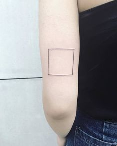 Minimalist Square Tattoo by Laura Martinez