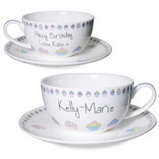 Personalised Cupcake Tea Cup & Saucer: Item number: 3324418937 Currency: GBP Price: GBP12.95