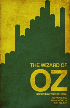 The Wizard of Oz (1939) ~ Minimal Movie Poster by Jake Newton #amusementphile