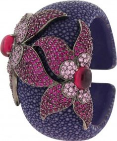 Item of the Day (3.2.12) Angelique de Paris' crystal, gemstone and string ray cuff