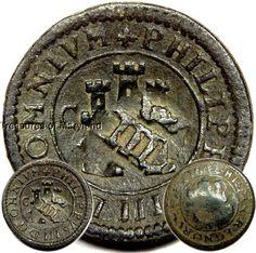 Philip III! 1602 SPANISH LION & CASTLE 4 MARAVEDIS COINS! sku #BC2