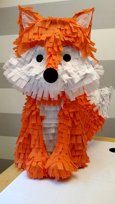 Originally I was going to make this pinata (only not so feminine). I was going for quick and easy. The party was in two days and I didn't...