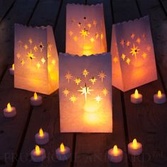Frux 24 Flameless Tea Lights - Yellow Flickering LED Tealight Candles with 12 Bonus Luminary Bags *** Visit the image link more details.