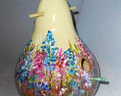 Bluebonnet Texas Bird House Gourd