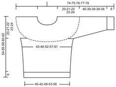 DROPS bluse med Norsk rund bærestykke i dobbelt tråd  Alpaca. Str S-XXL  Gratis opskrifter fra DROPS Design.