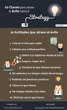 #infografia con claves para atraer el éxito hacia ti vía @cinacio06