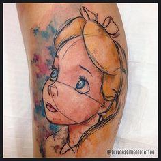 Alice in Wonderland tattoo Dell Nascimento