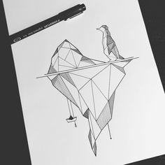 iceberg penguin geometric #paperboat