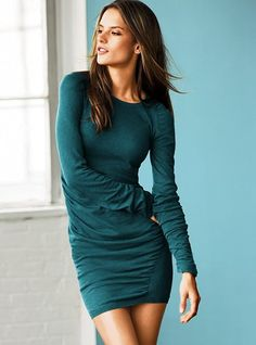 Ruched Cotton Sweaterdress #VictoriasSecret http://www.victoriassecret.com/clothing/sweaterdresses/ruched-cotton-sweaterdress?ProductID=2317=OLS?cm_mmc=pinterest-_-product-_-x-_-x
