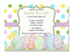 Free Easter Birthday Invitations Ideas  Download this invitation for FREE at http://www.bagvania.com/easter-birthday-invitations-ideas.html