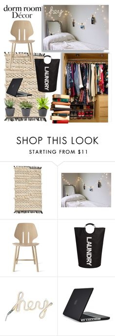 """""""My College Dorm Room"""" by zidith ❤ liked on Polyvore featuring interior, interiors, interior design, home, home decor, interior decorating, Levtex, Speck and dormroomstyle"""