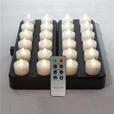 EcoLytes REMOTE Control Rechargeable LED Candles/Lamps - 24 pc Set  EcoLytes are commercial quality rechargeable flameless candles made for heavy, everyday use in restaurants, hotels, catering and hospitality venues, as well as in the home