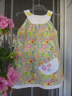 I loved making this little girl's dress for a neighbour's grandchild.