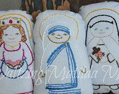 Embroidery KIT ONLY for Saints 'N Stitches Pillow Doll