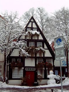 German Fachwerk House: I love the details .. it's like an over sized gingerbread house