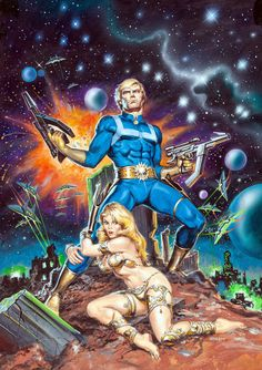 Original cover painting by Earl Norem from Marvel Super Special #10, Winter 1979.