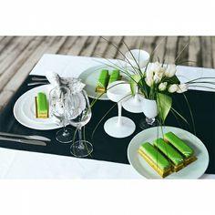 "Chef  Nina Tarasova - ""Green Opera"" thé matcha gelée de pomme mousse Lemongrass biscuit Joconde"