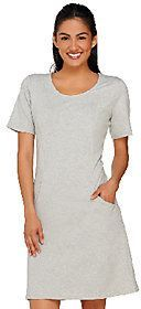 Denim & Co. Active French Terry Scoop Neck Short Sleeve Dress