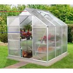Here is a really simple DIY garden project - Japanese Garden Design 6x4 Greenhouse, Walk In Greenhouse, Garden Types, Venus, Polycarbonate Roof Panels, Louvre Windows, Victorian Greenhouses, Double Sliding Doors, Concrete Pad