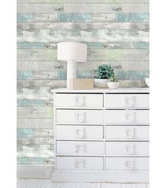 #Revamp your #craftroom or #create your own rustic oasis with peel and stick wallpaper! Give your favorite room a face lift without damaging or ruining walls.   Online Only Product