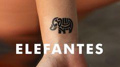 Pequeños Tatuajes de Elefantes