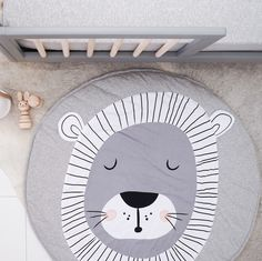 Make your baby's room or nursery roar with style with this wide lovely lion padded playmat.