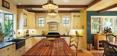 Shown on the kitchen walls is Pratt & Lambert Adobe Dust CL129