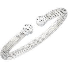 Mesh Cuff Bracelet Sterling Silver 7.5 Inch Bracelets-MidwestJewellery. $127.05