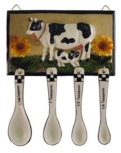 Measuring Spoons Cow Kitchen