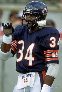 Walter Payton, Chicago Bears   Sweetness and a true class act