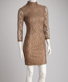 Brown Lace Dress by Sara Boo