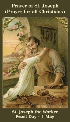 Free Catholic Holy Cards - Catholic Prayer Cards - Christmas - Nativity - St. Joseph - Holy Family - Support Missionary work